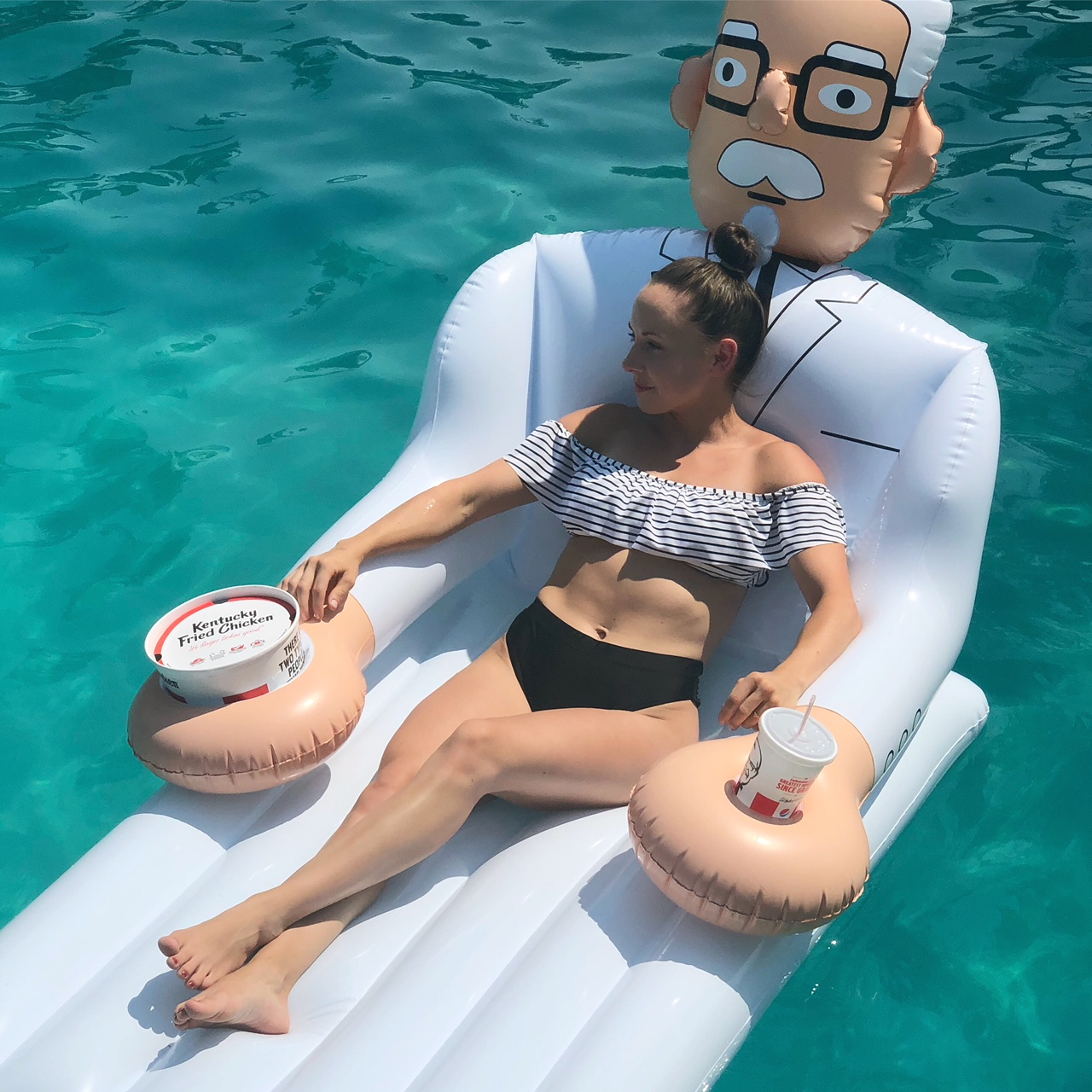 Colonel Sanders Pool Float